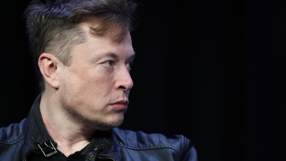 Elon Musk, founder and chief engineer of SpaceX speaks at the 2020 Satellite Conference and Exhibition March 9, 2020 in Washington, DC.