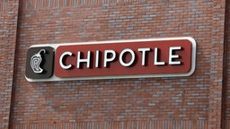 An image of the sign for Chipotle as photographed on March 16, 2020 in Wantagh, New York.