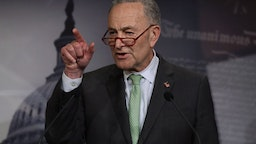 U.S. Senate Minority Leader Sen. Chuck Schumer (D-NY) speaks during a news conference at the U.S. Capitol March 17, 2020 in Washington, DC.