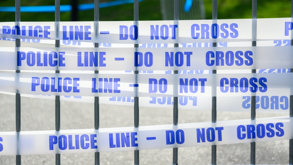 NEW YORK, NY - APRIL 12: A view of a police line tape outside the temporary hospital on the East Meadow lawn in Central Park during the coronavirus pandemic on April 12, 2020 in New York City. COVID-19 has spread to most countries around the world, claiming over 110,000 lives with infections at over 1.8 million people. (Photo by Noam Galai/Getty Images)