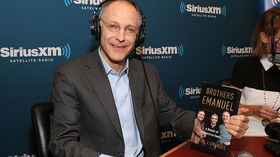 "Ezekiel ""Zeke"" Emanuel, author of ""Brothers Emanuel,"" visits SiriusXM Doctor Radio at SiriusXM studios on April 3, 2013 in New York City."