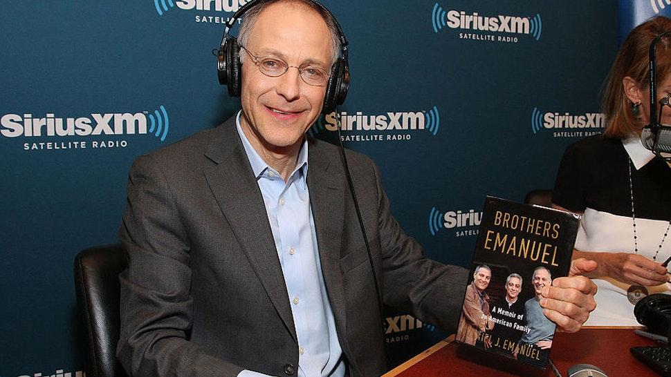 "Ezekiel ""Zeke"" Emanuel, author of ""Brothers Emanuel,"" visits SiriusXM Doctor Radio at SiriusXM studios on April 3, 2013 in New York City."