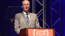 Mayor of San Diego Kevin Faulconer speaks at the opening night tribute at the San Diego Film Festival 2014 on September 27, 2014 in San Diego, California.
