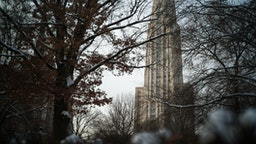 Cathedral of Learning in the morning, University of Pittsburgh.