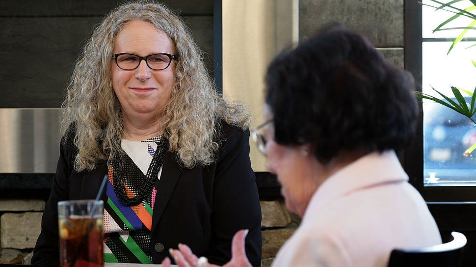 Rachel Levine, MD, physician general for the state of Pennsylvania, dines with her mother Lillian Levine, in Harrisburg, PA, on May 16, 2016. Levine is transgender and has a close relationship with her mother.