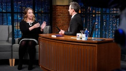Sarah Kendzior during an interview with host Seth Meyers on April 24, 2018