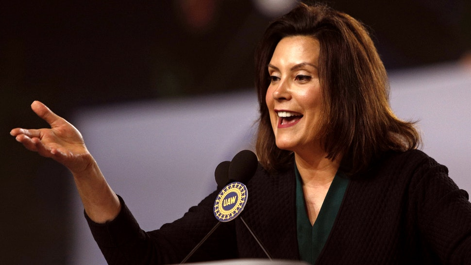Michigan Democrat Gubernatorial candidate Gretchen Whitmer addresses the 37th United Auto Workers Constitutional Convention June14, 2018 at Cobo Center in Detroit, Michigan