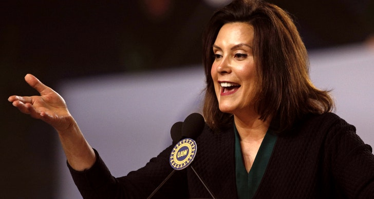 DETROIT, MI-JUNE 14: Michigan Democrat Gubernatorial candidate Gretchen Whitmer addresses the 37th United Auto Workers Constitutional Convention June14, 2018 at Cobo Center in Detroit, Michigan