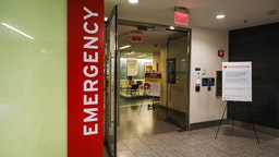 The Emergency Medicine Department at Massachusetts General Hospital is pictured on Apr. 2, 2020. Here at the states largest hospital, staff are coping with unprecedented realities in this coronavirus pandemic and deeply worried about what is yet to come. There is an odd juxtaposition inside this normally bustling world-renowned hospital: Expanded intensive care units are packed with COVID-19 patients, while other floors and places such as family waiting rooms are deserted, quiet. (Photo by Erin Clark for The Boston Globe via Getty Images)