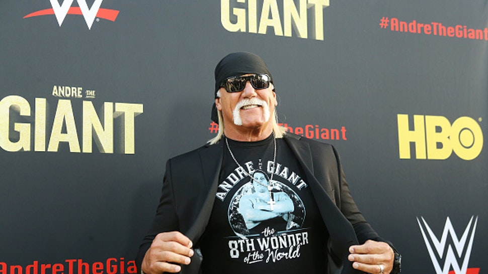 """HOLLYWOOD, CA - MARCH 29: Hulk Hogan arrives to HBO World Premiere of """"Andre The Giant"""" held at ArcLight Cinerama Dome on March 29, 2018 in Hollywood, California."""