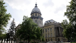 SPRINGFIELD, IL - MAY 05: The Illinois State Capitol Building, in Springfield, Illinois on MAY 05, 2012.