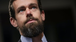 WASHINGTON, DC - SEPTEMBER 5: Twitter chief executive officer Jack Dorsey looks on during a Senate Intelligence Committee hearing concerning foreign influence operations' use of social media platforms, on Capitol Hill, September 5, 2018 in Washington, DC. Twitter CEO Jack Dorsey and Facebook chief operating officer Sheryl Sandberg faced questions about how foreign operatives use their platforms in attempts to influence and manipulate public opinion.