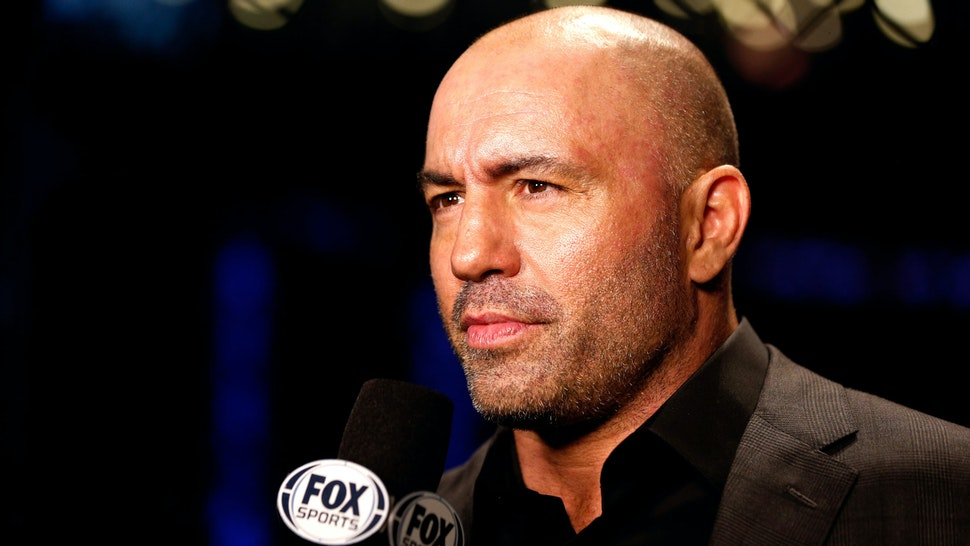 ORLANDO, FL - APRIL 19: UFC color commentator Joe Rogan speaks on camera during the FOX UFC Saturday event at the Amway Center on April 19, 2014 in Orlando, Florida.