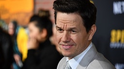 """US actor Mark Wahlberg arrives for the premiere of Netflix's """"Spenser Confidential"""" at Regency Village Theatre in Westwood, California, on February 27, 2020."""