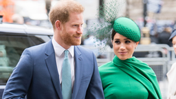 LONDON, ENGLAND - MARCH 09: Prince Harry, Duke of Sussex and Meghan, Duchess of Sussex attend the Commonwealth Day Service 2020 on March 09, 2020 in London, England.