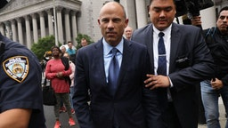 NEW YORK, NEW YORK - MAY 28: Celebrity attorney Michael Avenatti walks out of a New York court house after pleading not guilty Tuesday in federal court in a case where he is accused of stealing $300,000 from a former client, adult-film actress Stormy Daniels. on May 28, 2019 in New York City. A grand jury has indicted Avenatti for the Daniels-related case and a second case in which prosecutors say he attempted to extort more than $20 million from sportswear giant Nike.