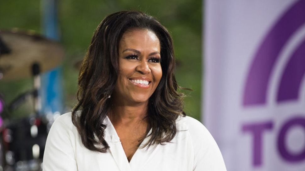 Michelle Obama on Thursday, October 11, 2018 -- (Photo by: Nathan Congleton/NBC/NBCU Photo Bank)