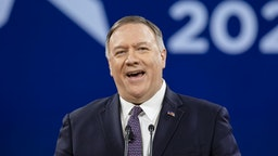 NATIONAL HARBOR, MD - FEBRUARY 28: Secretary of State Mike Pompeo speaks at the Conservative Political Action Conference 2020 (CPAC) hosted by the American Conservative Union on February 28, 2020 in National Harbor, MD.