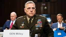 WASHINGTON, DC, UNITED STATES - MARCH 4, 2020: General Mark Milley, Chairman Of The Joint Chiefs Of Staff, at a hearing of the Senate Committee on Armed Services