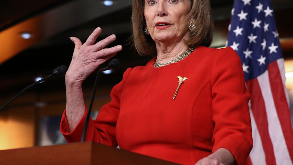 WASHINGTON, DC - DECEMBER 19: Speaker of the House Nancy Pelosi (D-CA) holds her weekly news conference at the U.S. Capitol December 19, 2019 in Washington, DC. Pelosi has not set the number of managers she will assign to President Donald Trump's impeachment trial and has not said when she will send the articles over to the U.S. Senate