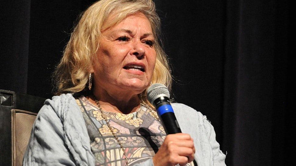 "BEVERLY HILLS, CA - SEPTEMBER 17: Roseanne Barr participates in ""Is America a Forgiving Nation?,'' a Yom Kippur eve talk on forgiveness hosted by the World Values Network and the Jewish Journal at Saban Theatre on September 17, 2018 in Beverly Hills, California."
