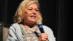 """BEVERLY HILLS, CA - SEPTEMBER 17: Roseanne Barr participates in """"Is America a Forgiving Nation?,'' a Yom Kippur eve talk on forgiveness hosted by the World Values Network and the Jewish Journal at Saban Theatre on September 17, 2018 in Beverly Hills, California."""