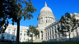 Wisconsin state capitol building in Madison Wisconsin.