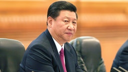BEIJING, CHINA - AUGUST 18: Chinese Vice President Xi Jinping attends a bilaterial meeting inside the Great Hall of the People on August 18, 2011 in Beijing, China. Biden will visit China, Mongolia and Japan from August 17-25.