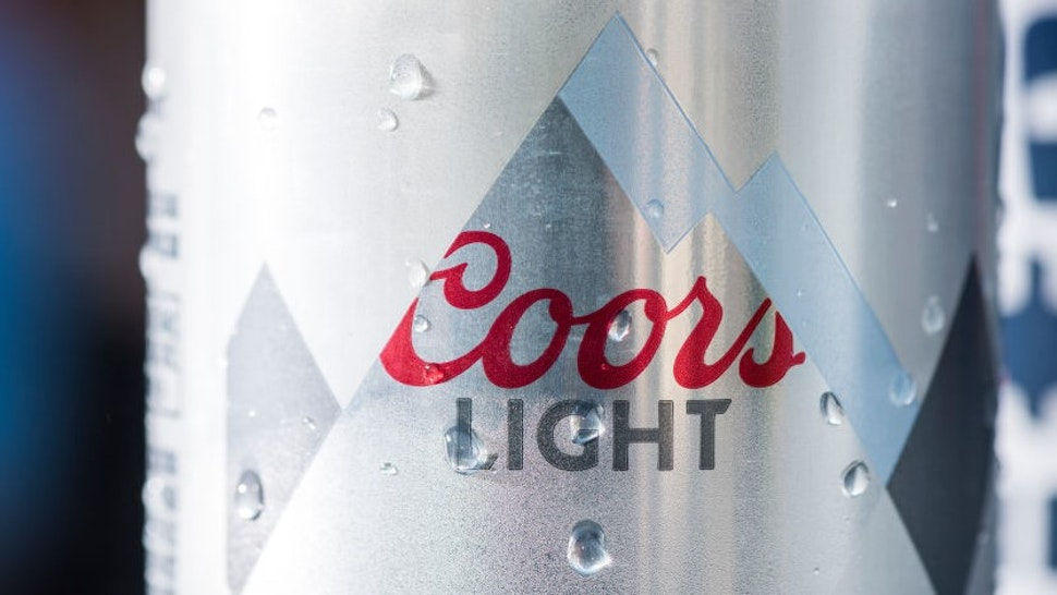 ATLANTA, GA - JUNE 12: Detail shot of Coors Light signage against the New York Mets at SunTrust Park on June 12, 2018 in Atlanta, Georgia. The Braves won 8-2. (Photo by