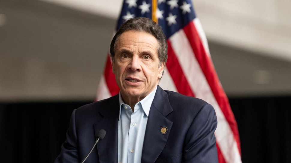 NEW YORK, UNITED STATES - MARCH 30, 2020: New York Governor Andrew Cuomo (D) speaks at a press conference at the Jacob K. Javits Convention Center.- PHOTOGRAPH BY Michael Brochstein / Echoes Wire/ Barcroft Studios / Future Publishing (Photo credit should read