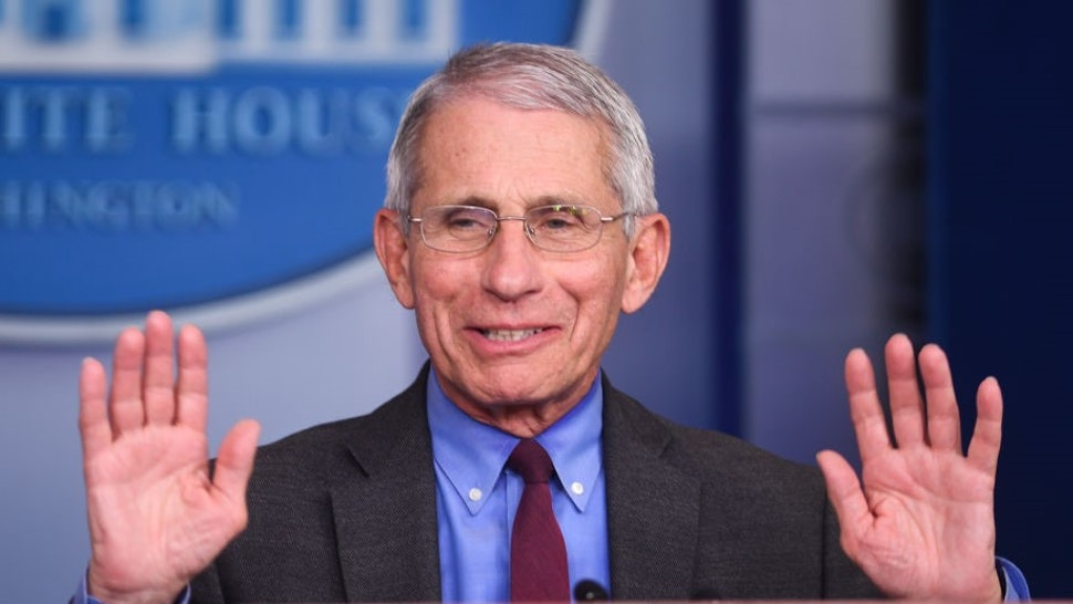 Anthony Fauci, director of the National Institute of Allergy and Infectious Diseases, speaks during a Coronavirus Task Force news conference at the White House in Washington, D.C., U.S., on Friday, April 10, 2020. President Donald Trump said he has asked his agriculture secretary to use all of the funds and authorities at his disposal, to aid U.S. farmers, whose financial peril has worsened in the coronavirus pandemic. Photographer: