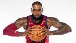 LeBron James #23 of the Cleveland Cavaliers poses during media day at Cleveland Clinic Courts on September 25, 2017 in Independence, Ohio. NOTE TO USER: User expressly acknowledges and agrees that, by downloading and/or using this photograph, user is consenting to the terms and conditions of the Getty Images License Agreement. (Photo by