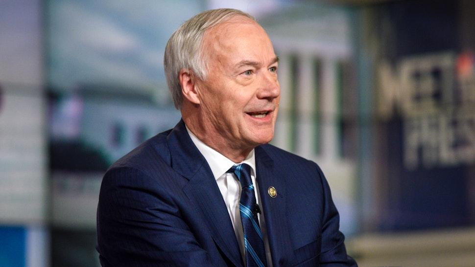 "Governor Asa Hutchinson (R-AK) appears on ""Meet the Press"" in Washington, D.C., Sunday, Feb. 24, 2019."