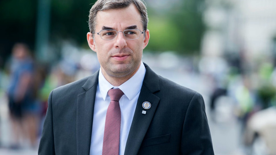 UNITED STATES - MAY 23: Rep. Justin Amash, R-Mich., makes his way to the Capitol before the last votes of the week on Thursday, May 23, 2019.