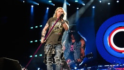 "Axl Rose of Guns N' Roses performs onstage during the ""Not In This Lifetime..."" Tour at Madison Square Garden on October 11, 2017 in New York City. (Photo by Kevin Mazur/Getty Images for Live Nation)"