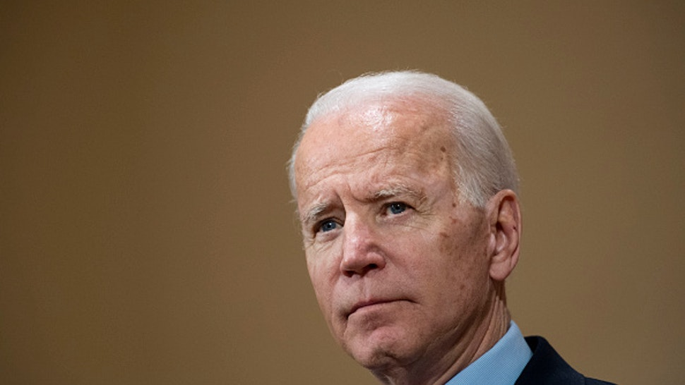 COLUMBUS, OH - MARCH 10: Former Vice President Joe Biden speaks at the Driving Park Community Center in Columbus, OH on March 10, 2020.