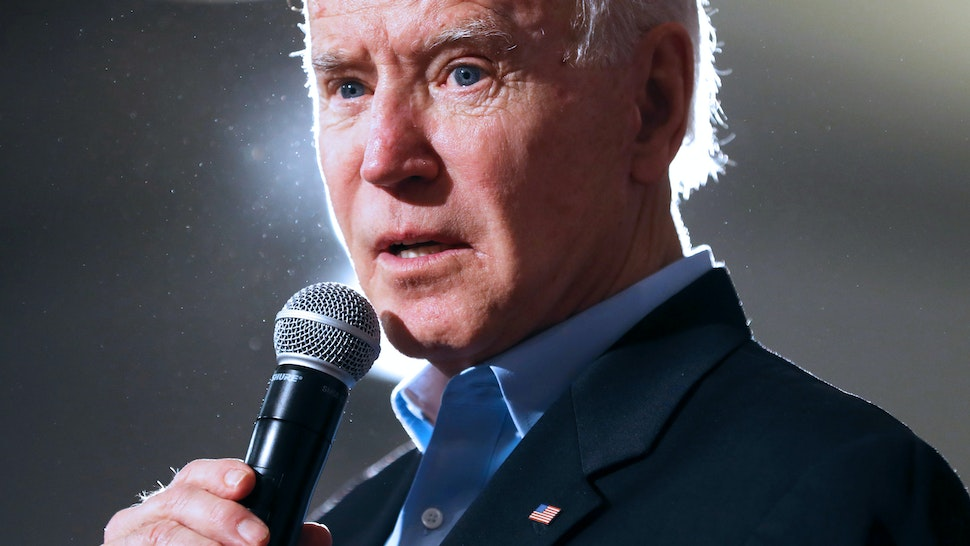 MARION, IOWA - JANUARY 27: Democratic presidential candidate former Vice President Joe Biden speaks during a campaign event at the Prairie Hill Pavilion January 27, 2020 in Marion, Iowa. In a what appears to be a neck-and-neck race, Biden is ahead of rival candidate Sen. Bernie Sanders (I-VT) by 6 points in a USA Today/Suffolk University poll but is running behind Sanders by 8 points according to a New York Times/Siena College poll, both polls of likely Iowa caucus-goers conducted at about the same time.