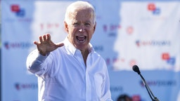 UNITED STATES - OCTOBER 20: Former Vice President Joe Biden speaks at the Nevada Democrats' early vote rally at the Culinary Workers Union Local 226 in Las Vegas on Saturday, Oct. 20, 2018, the first day of early voting in Nevada.