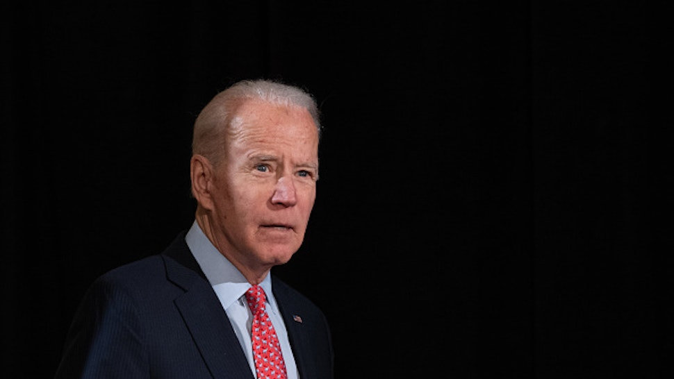Former US Vice President and Democratic presidential hopeful Joe Biden arrives to speak about COVID-19, known as the Coronavirus, during a press event in Wilmington, Delaware on March 12, 2020