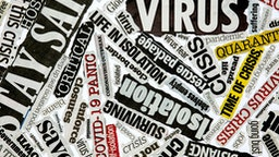 Newspaper clippings of Coronavirus pandemic
