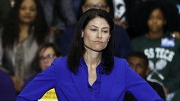 Michigan attorney general candidate Dana Nessel speaks at a Democratic rally attended by former President Barack Obama and former Attorney General Eric Holder at Detroit Cass Tech High School on October 26, 2018 in Detroit, Michigan. Obama, and Holder are among approximately a dozen democrats who were targeted by mail bombs over the past several days. (Photo by Bill Pugliano/Getty Images)