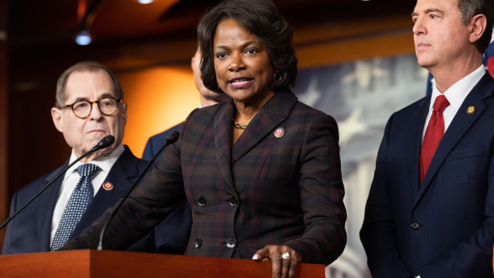 WASHINGTON, UNITED STATES - JANUARY 28 2020: U.S. Representative, Val Demings (D-FL) speaking about the Senate impeachment trial.- PHOTOGRAPH BY Michael Brochstein / Echoes Wire/ Barcroft Media