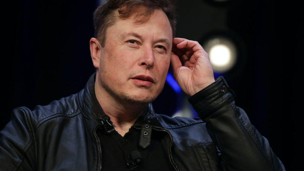 WASHINGTON DC, USA - MARCH 9: Elon Musk, Founder and Chief Engineer of SpaceX, speaks during the Satellite 2020 Conference in Washington, DC, United States on March 9,