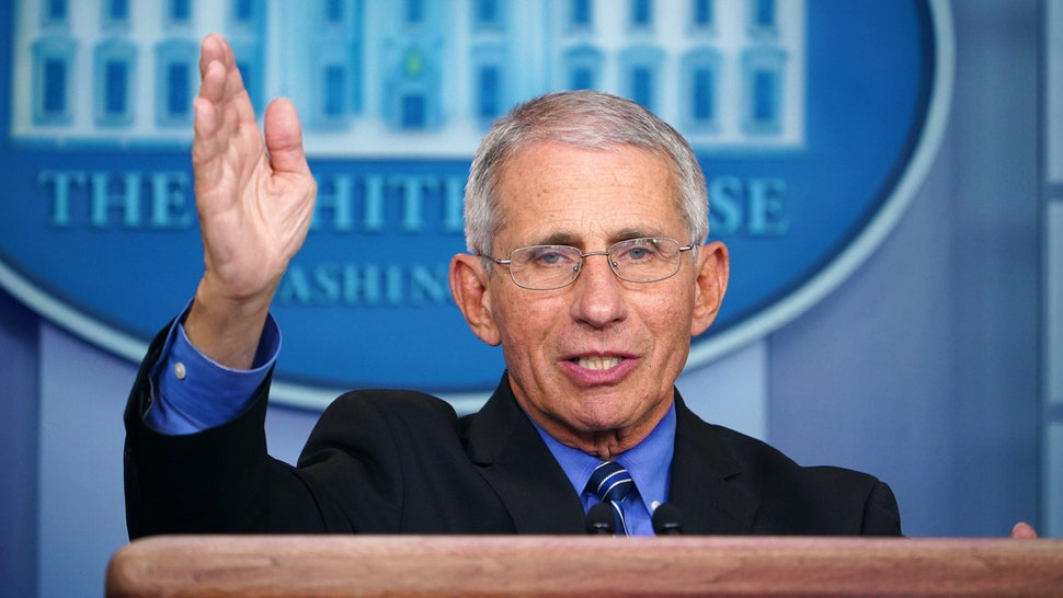 Director of the National Institute of Allergy and Infectious Diseases Anthony Fauci speaks during the daily briefing on the novel coronavirus, COVID-19, at the White House on March 24, 2020, in Washington, DC.