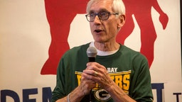 Democratic candidate for Wisconsin Governor, Tony Evers speaks to supporters at the Racine County Democratic office on November 4, 2018 in Racine, Wisconsin.