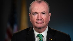 Phil Murphy, Governor of New Jersey, listens during a Bloomberg Television interview in Newark, New Jersey, U.S., on Friday, March 8, 2019.