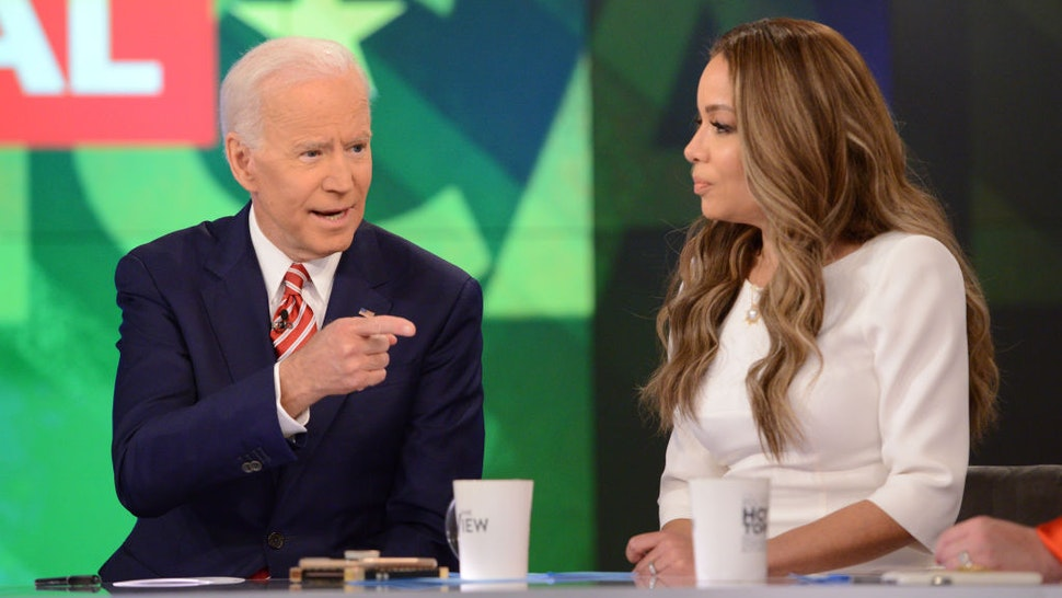 """Joe Biden appears on Walt Disney Television via Getty Images's """"The View"""" today, Friday, April 26, 2019."""
