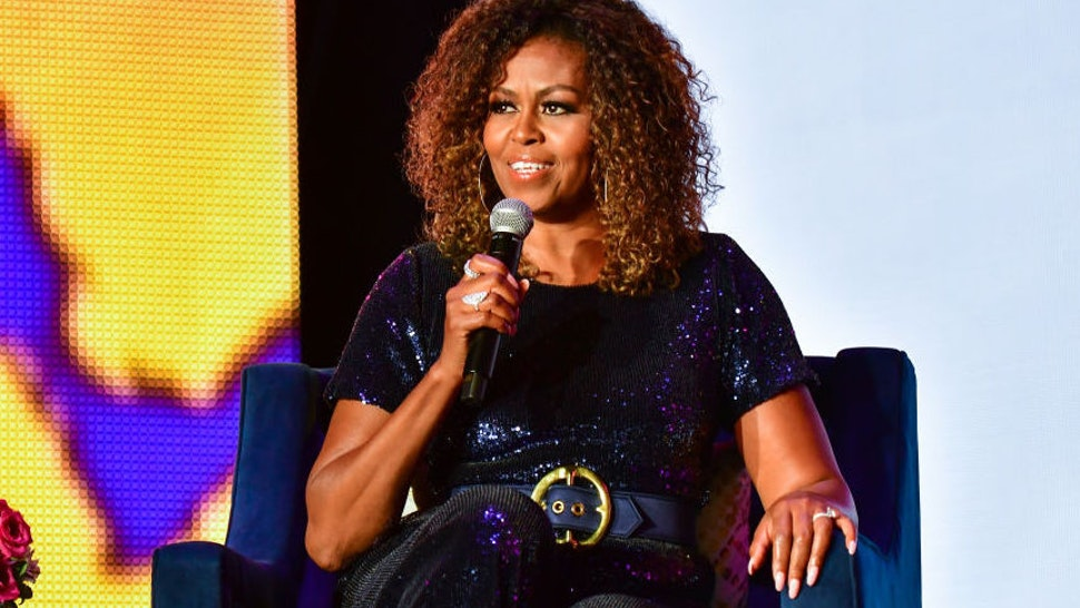 A conversation with Michelle Obama takes place during the 2019 ESSENCE Festival at the Mercedes-Benz Superdome on July 06, 2019 in New Orleans, Louisiana.