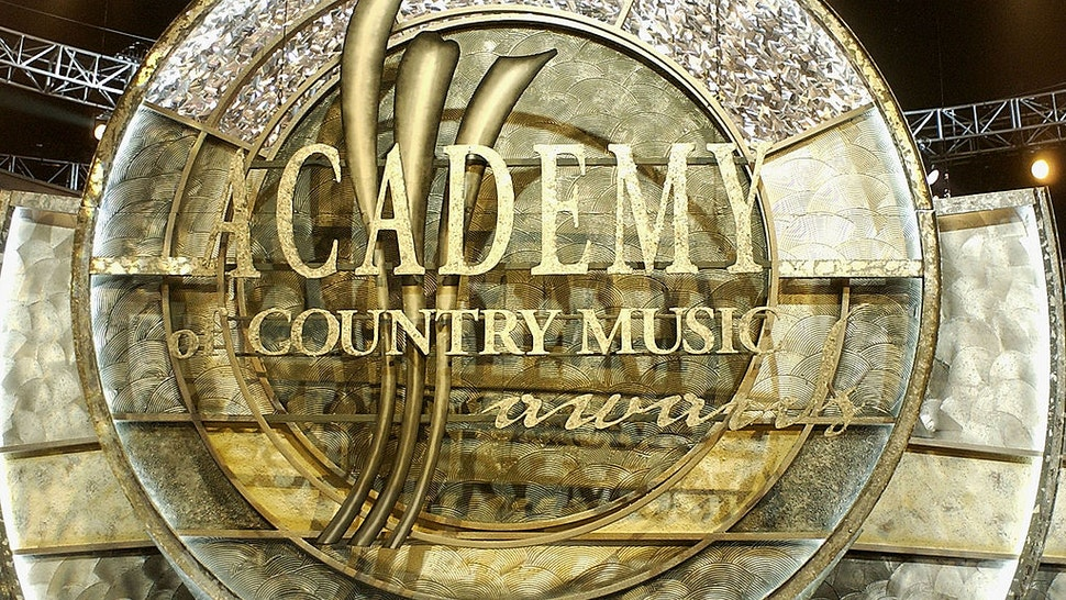 Academy of Country Music stage logo at 39th Annual Academy of Country Music Awards at the Mandalay Bay Resort in Las Vegas