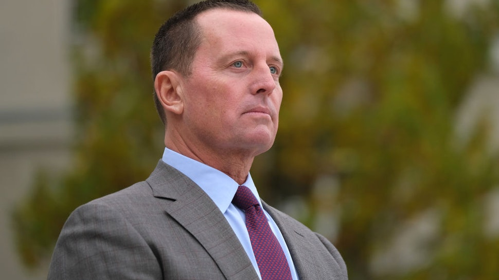 U.S. Ambassador to Germany Richard Grenell waits for the arrival of U.S. Secretary of State Mike Pompeo